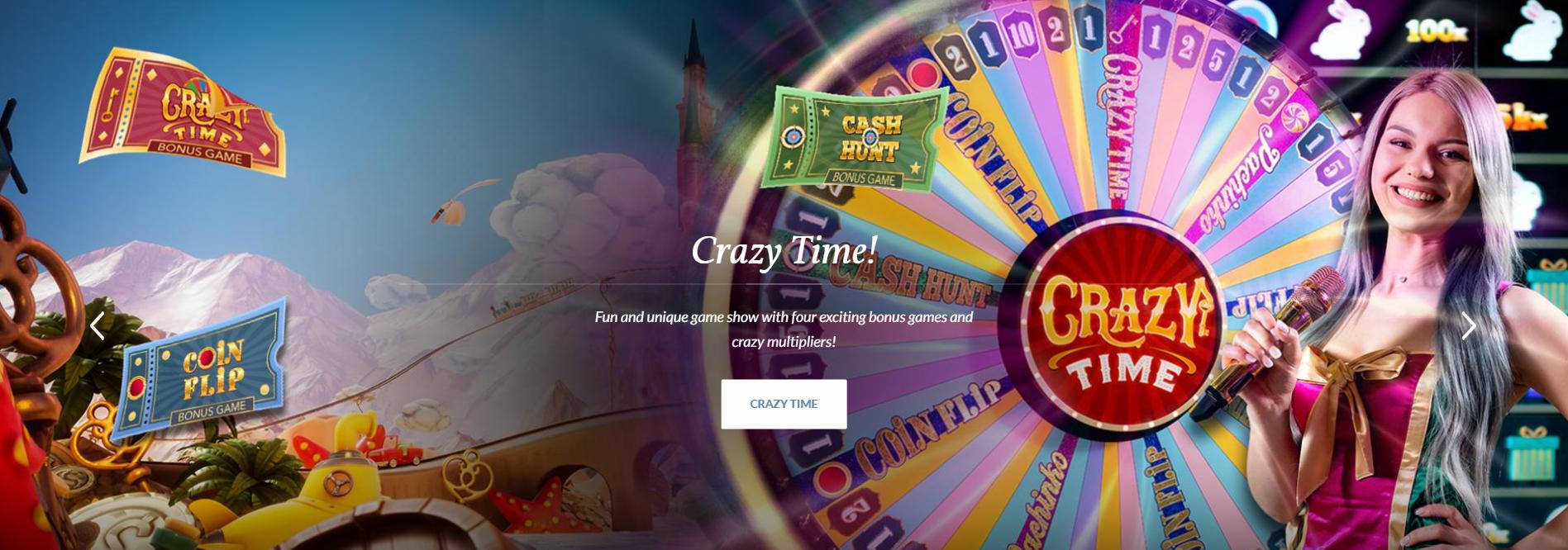 crazy time evolution gaming puslapis žaidimo ratas svajonių pasaulis