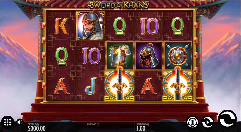 sword of khans thunderkick lošimo automatas 1xslot