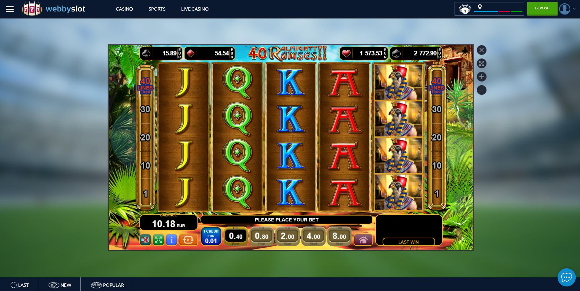 almighty ramses egt lošimo automatas webbyslot