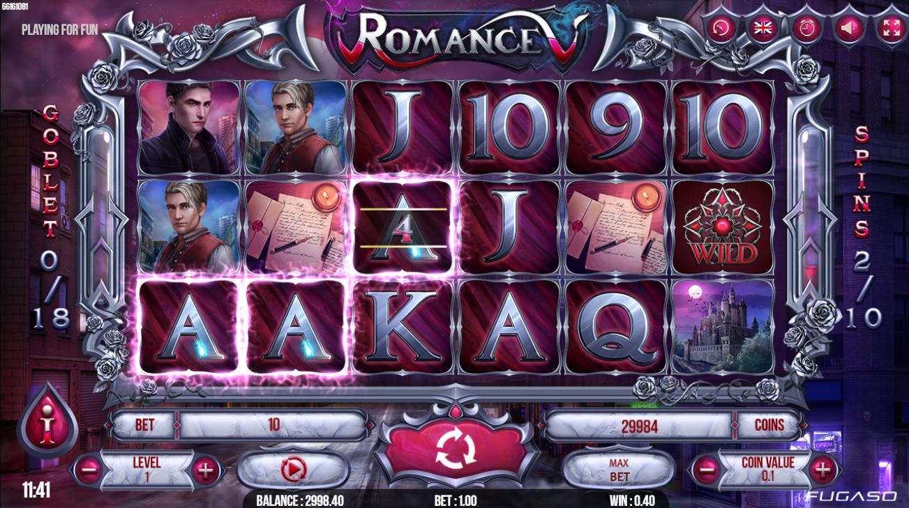 romance v fugaso lošimo automatas