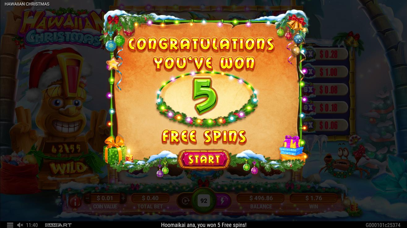 hawaiian christmas lošimo automatas 1xslots kazino free spins