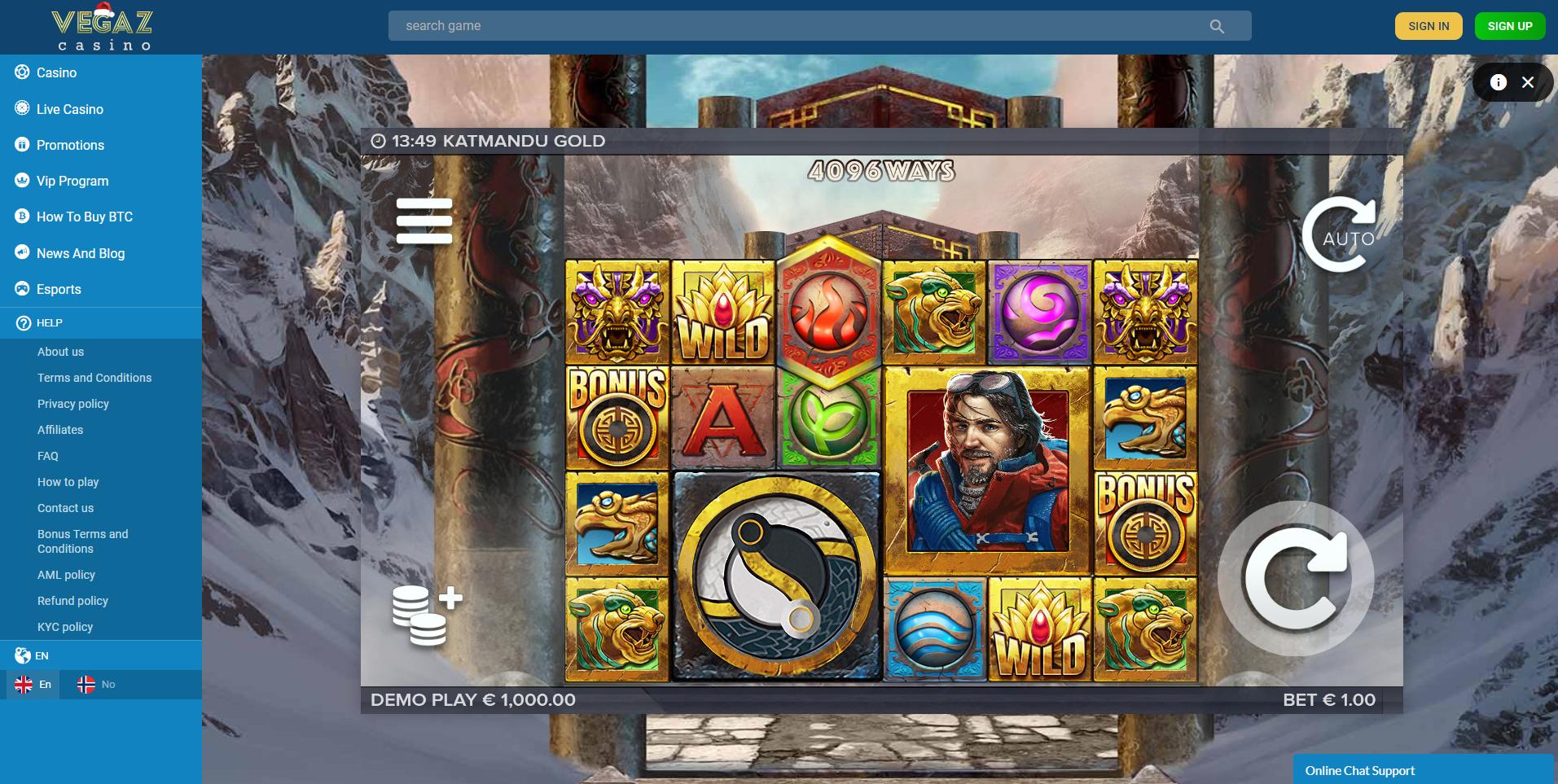 katmandu gold vegaz casino lošimo automatas elk