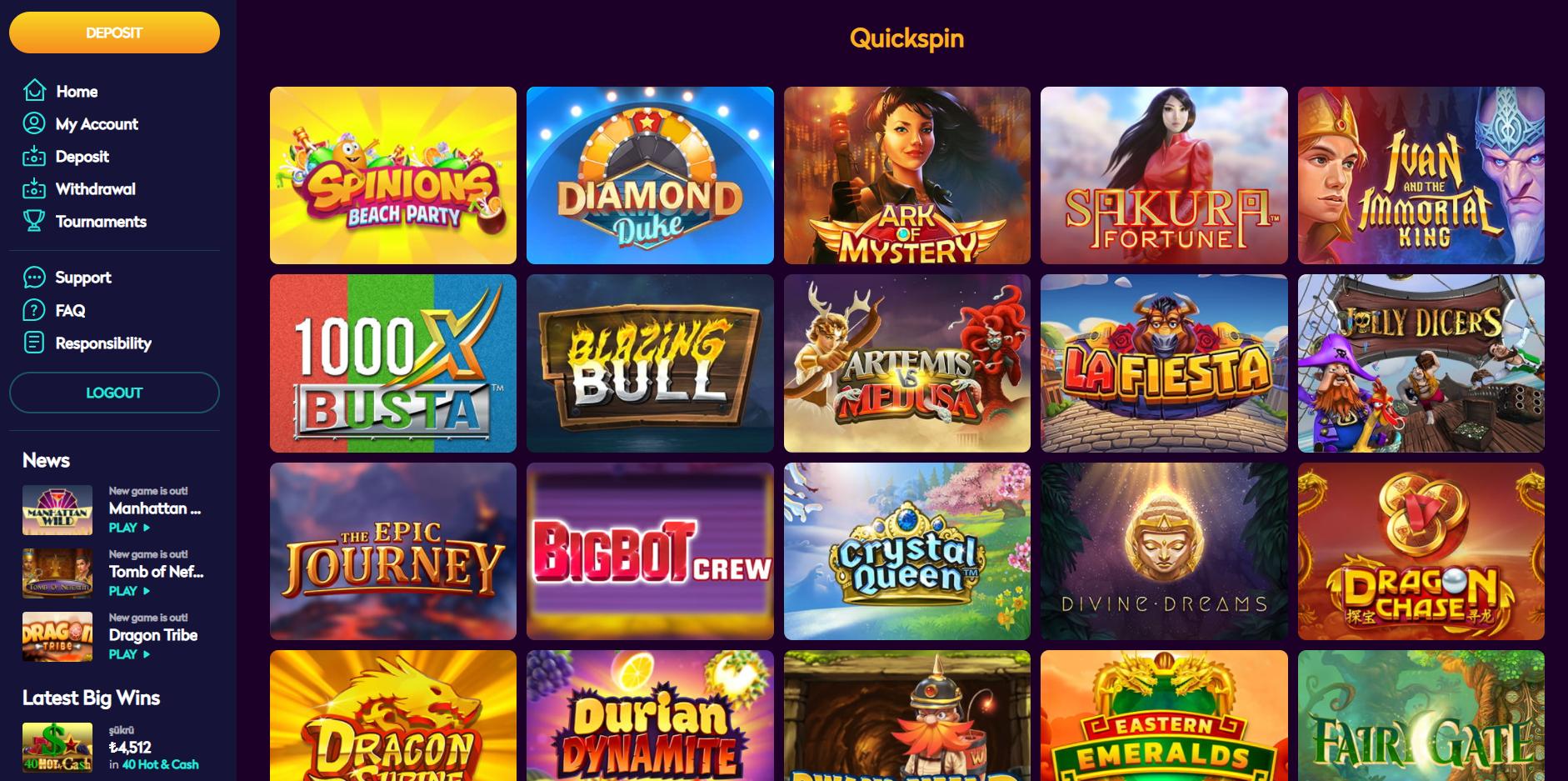 casino360 quickspin lošimo automatai sakura fortune durian dynamite la fiesta diamond