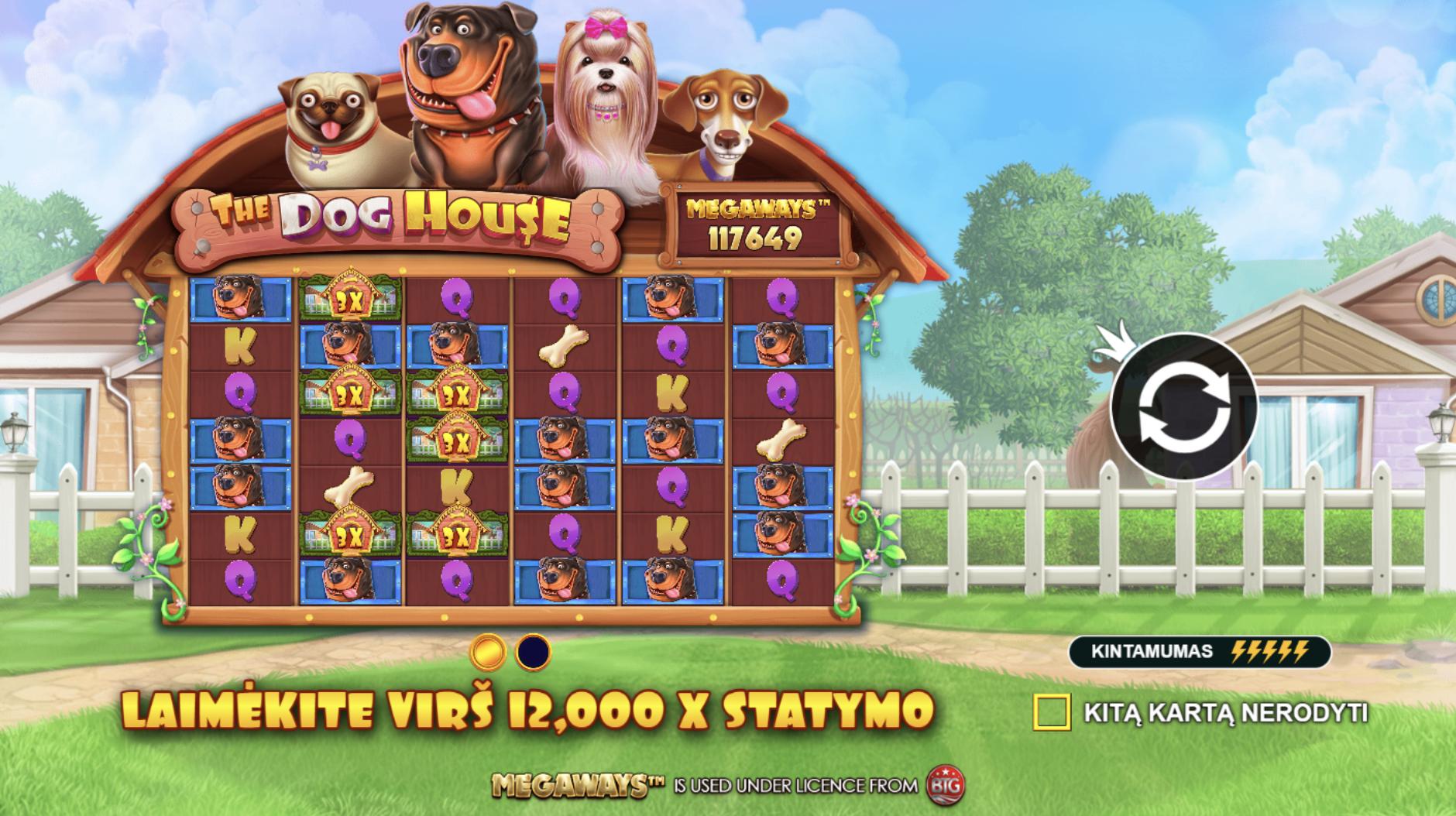 the dog house megaways pragmatic play lošimo automatas slot