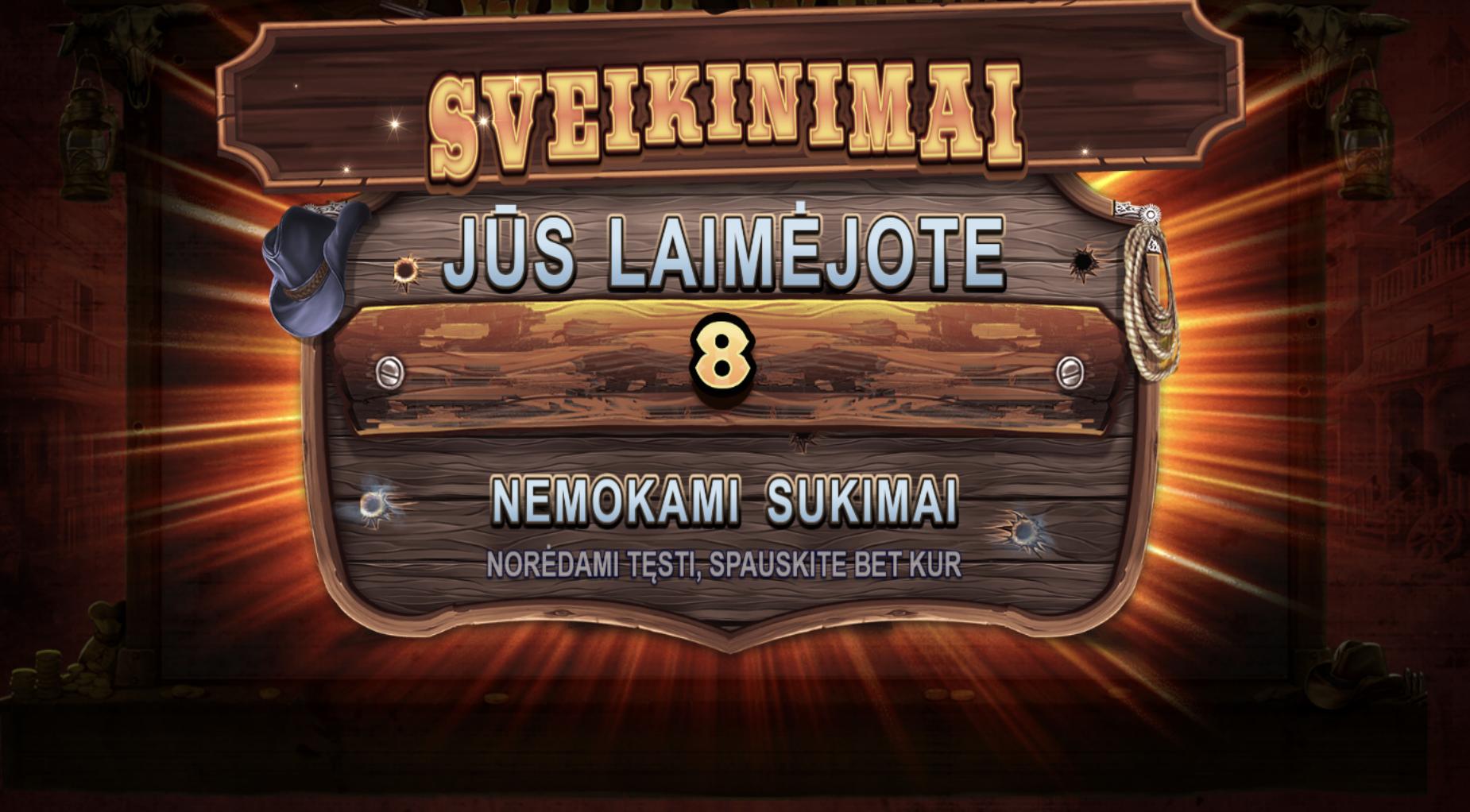 8 wild west gold nemokami sukimai