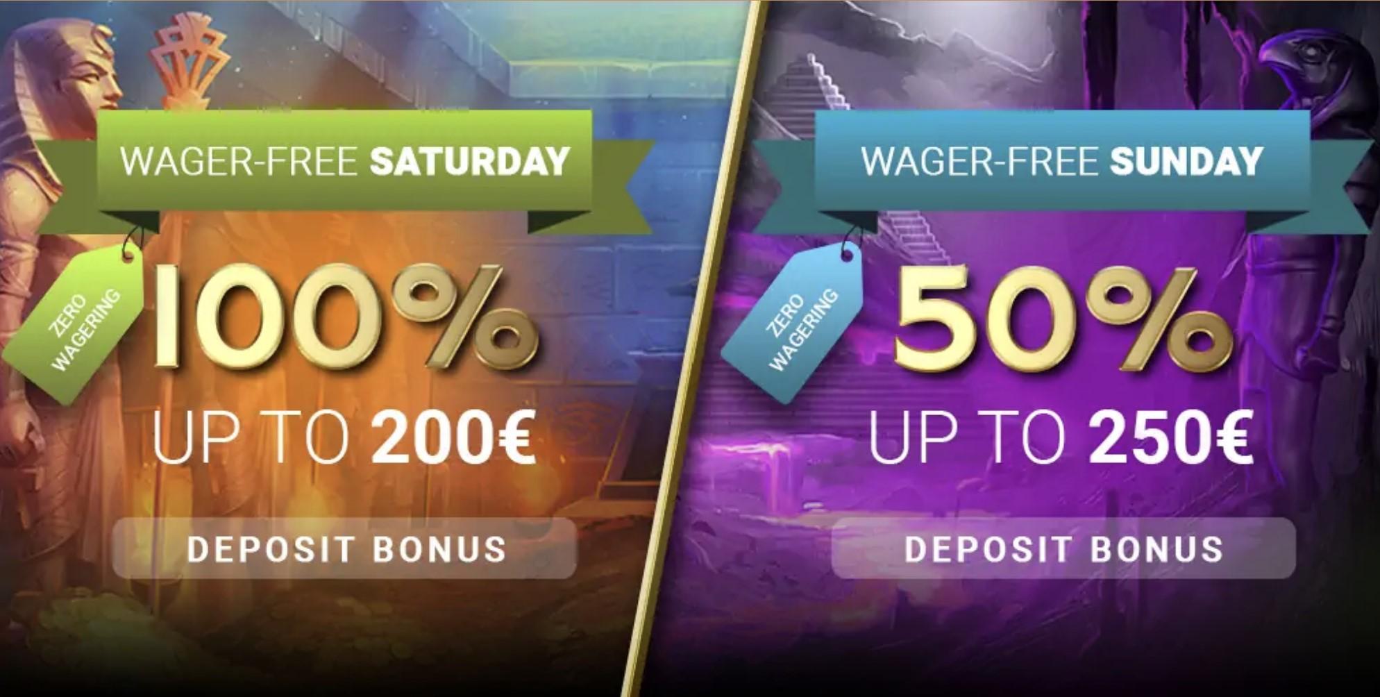 horus casino weekend bonus papildymo premija savaitgaliais
