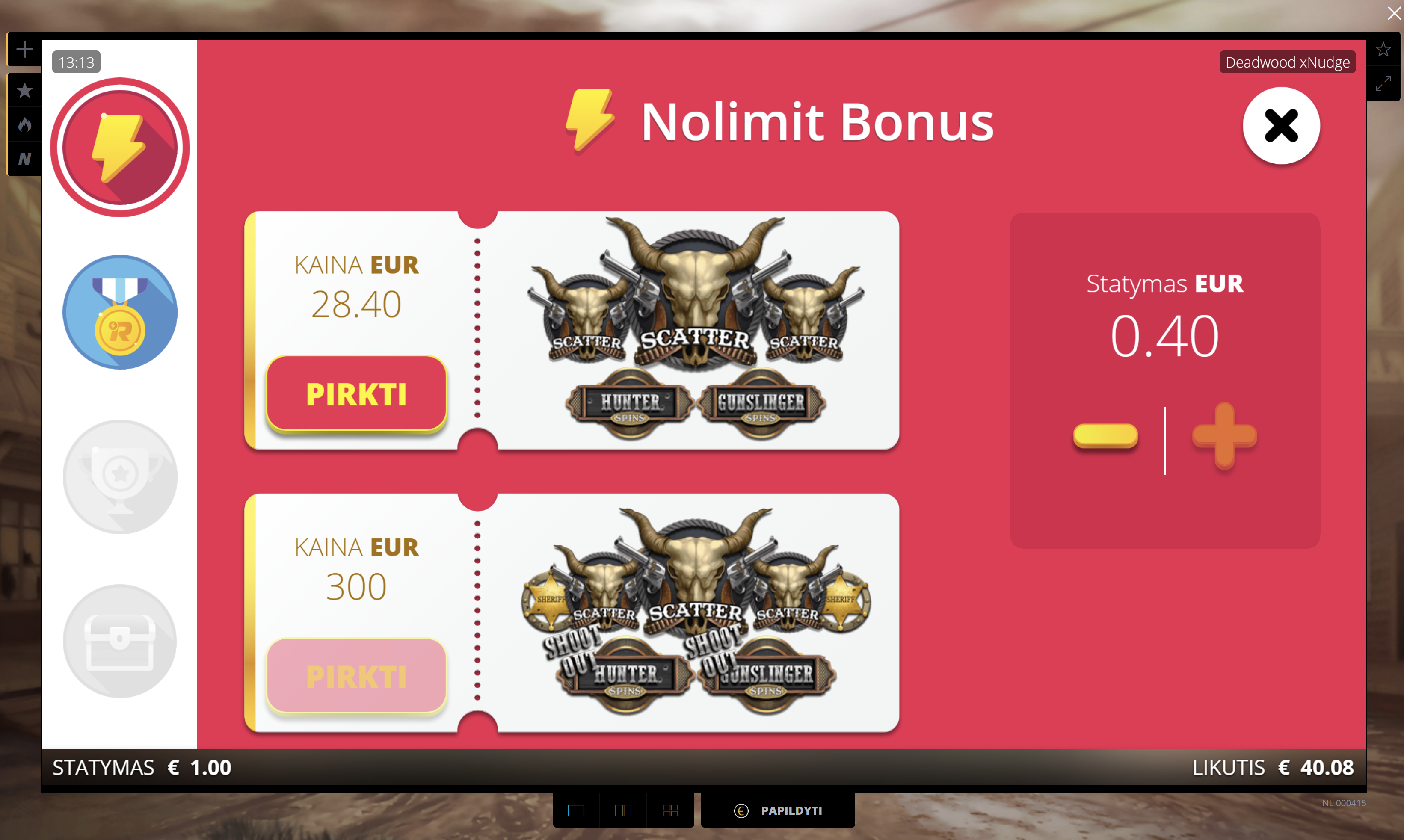 nolimit city bonus deadwood uniclub.lt