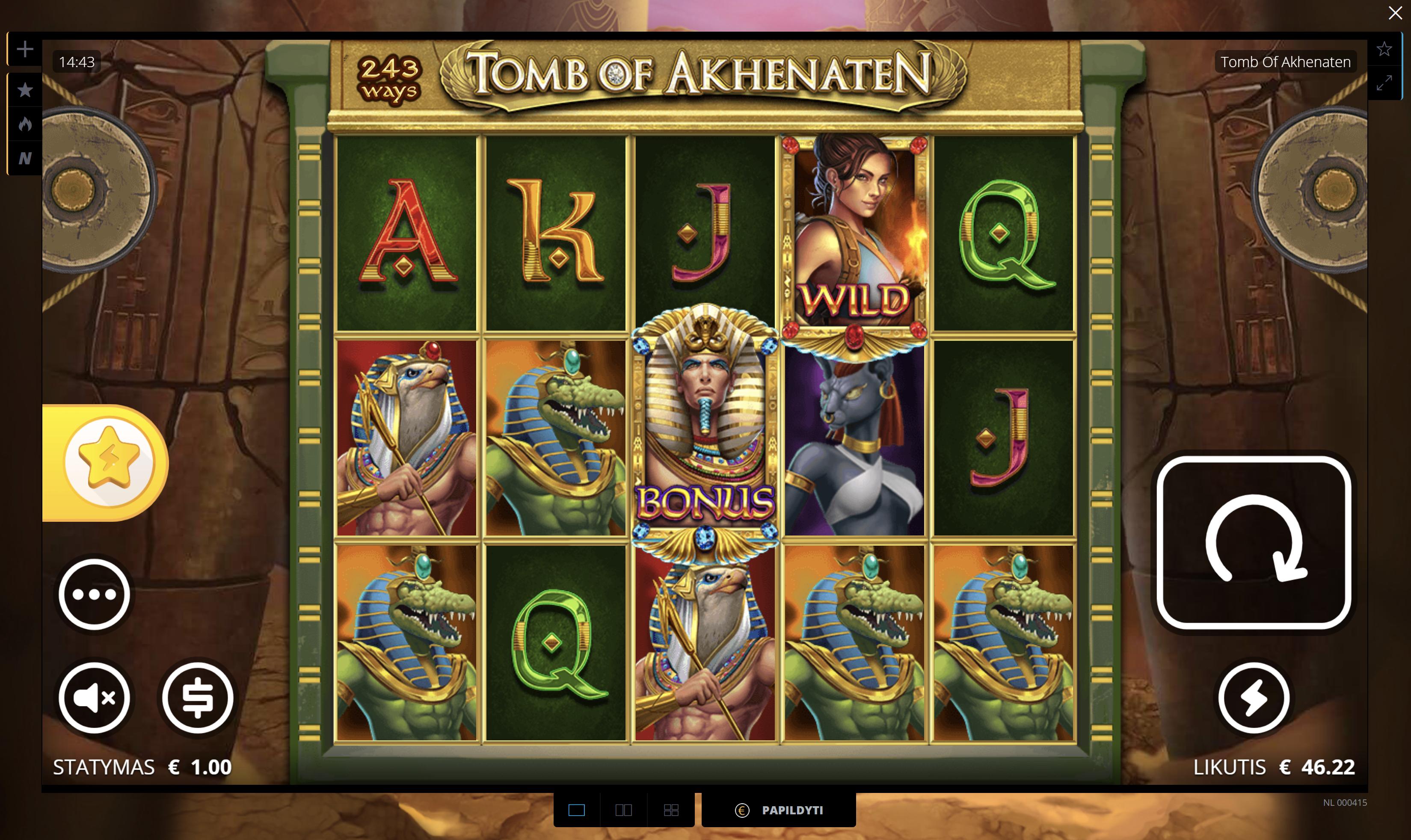 tomb akhenaten nolimit city lošimo automatas