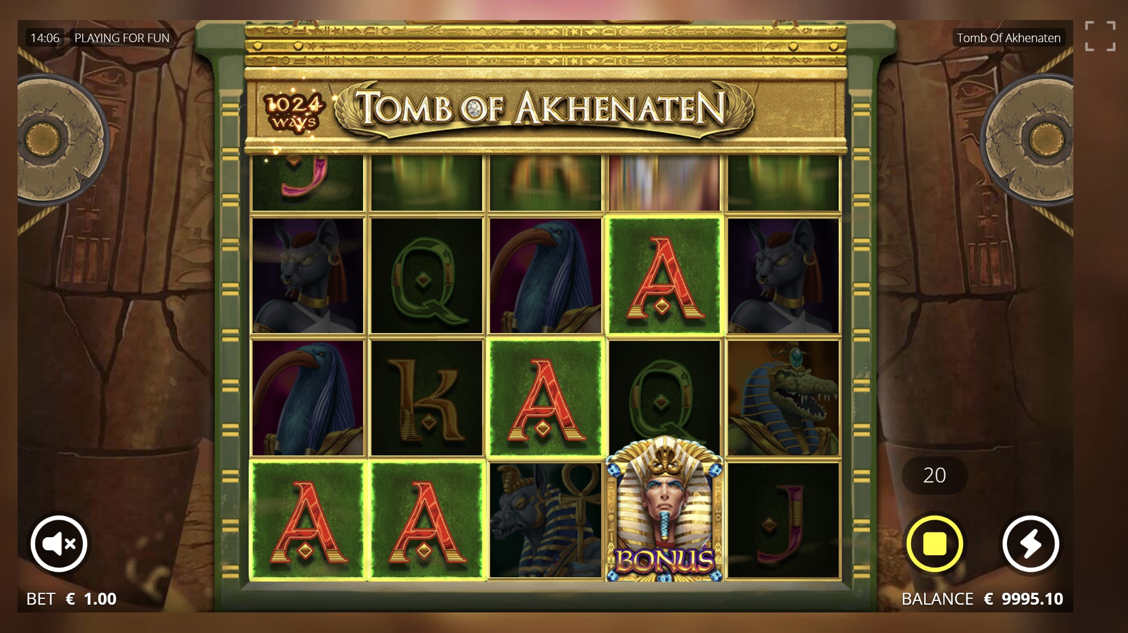 tomb of akhenaten lošimo automatas slot