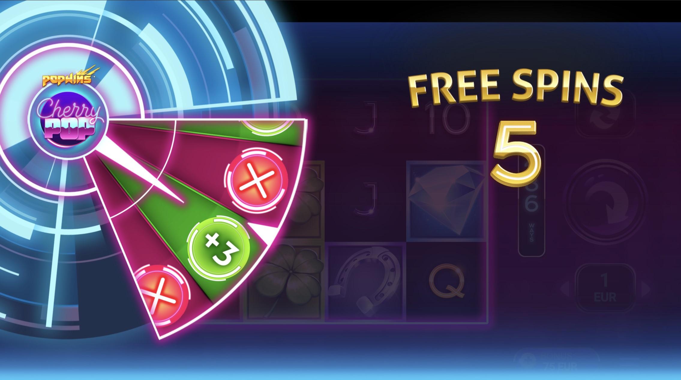 cherry pop gamble wheel 5 free spins