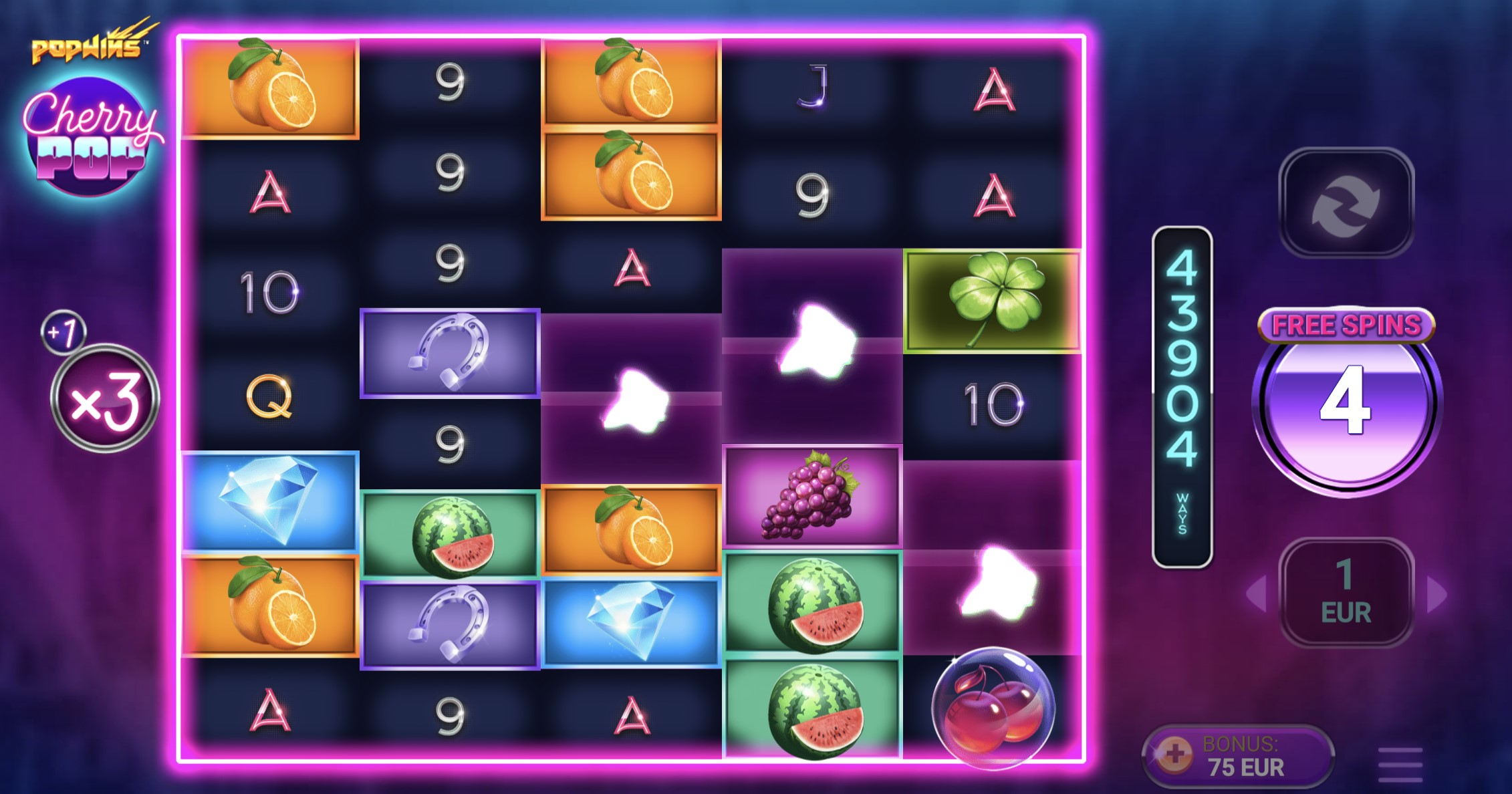 cherry pop slot free spins nemokami sukimai