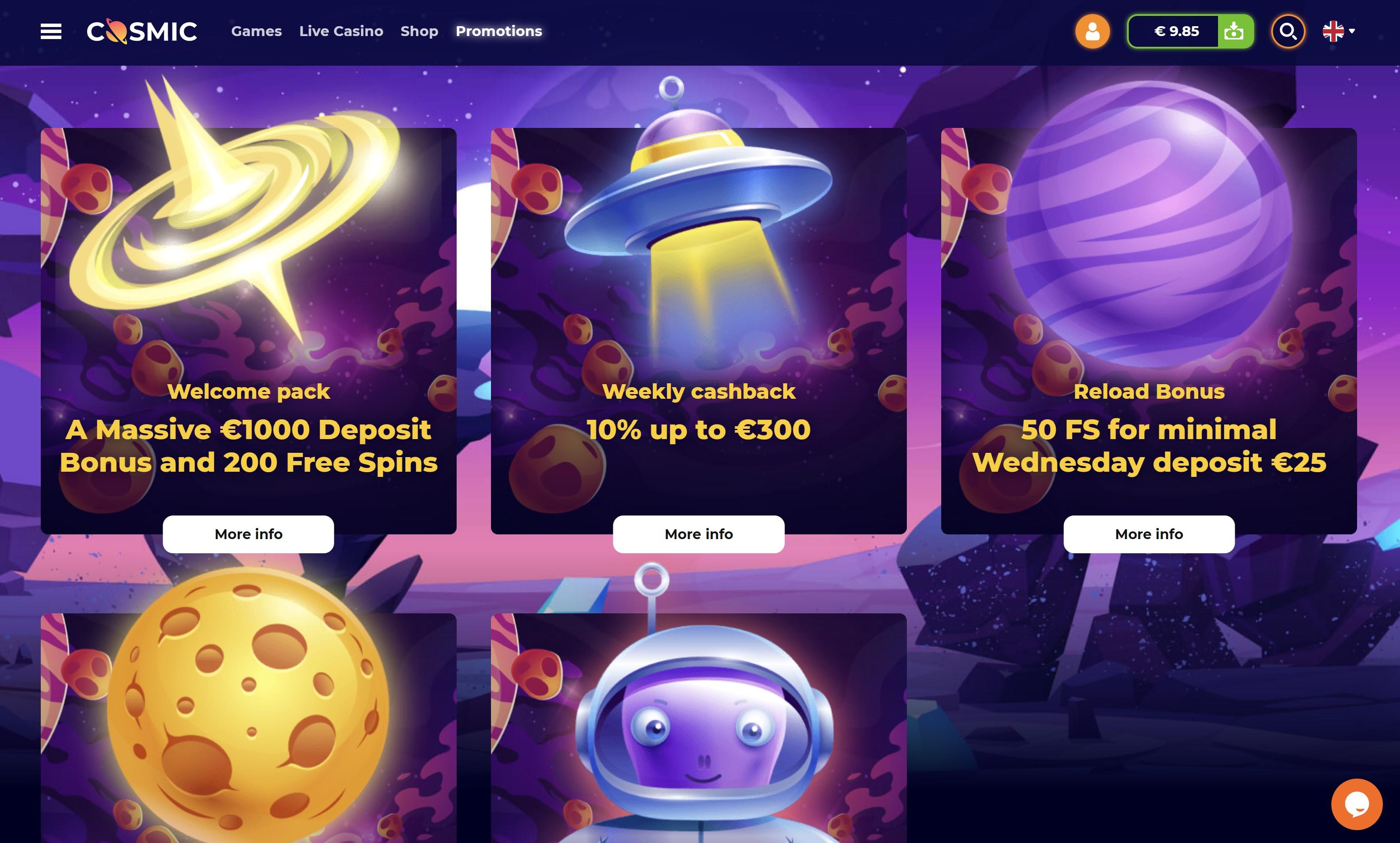cosmicslot bonus kazino premija - cosmic slot no deposit bonus code