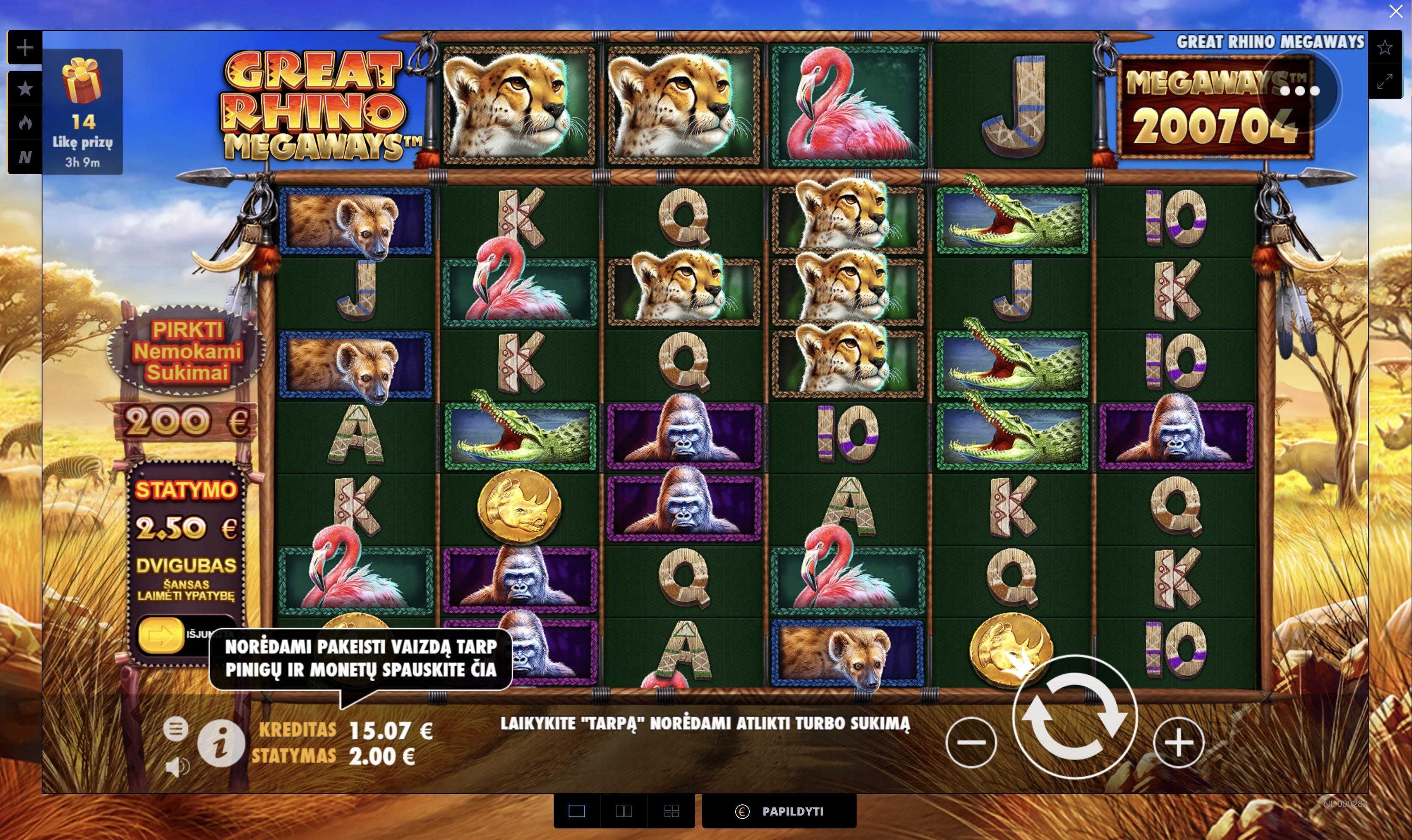 great rhino megaways pragmatic play lošimo automatas uniclub kazino