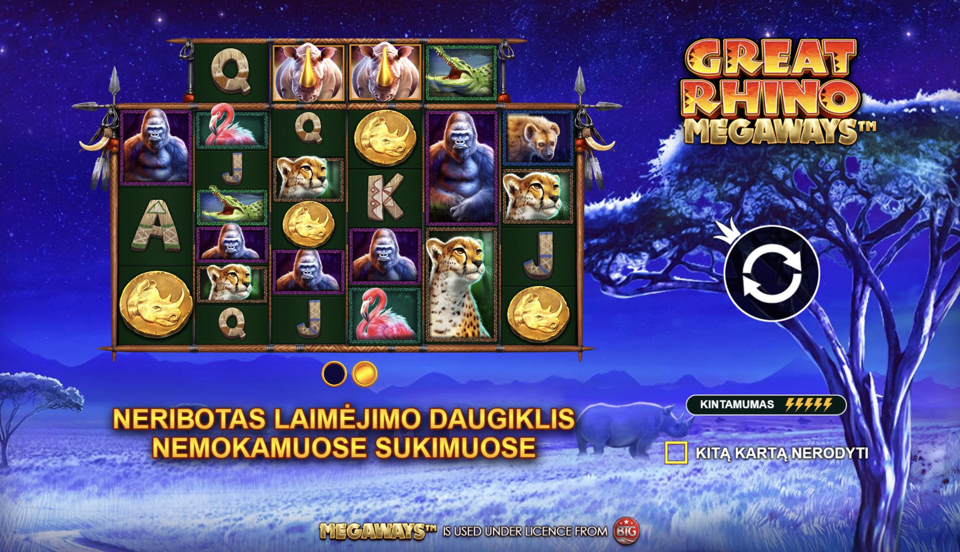 great rhino megaways slot demo real play