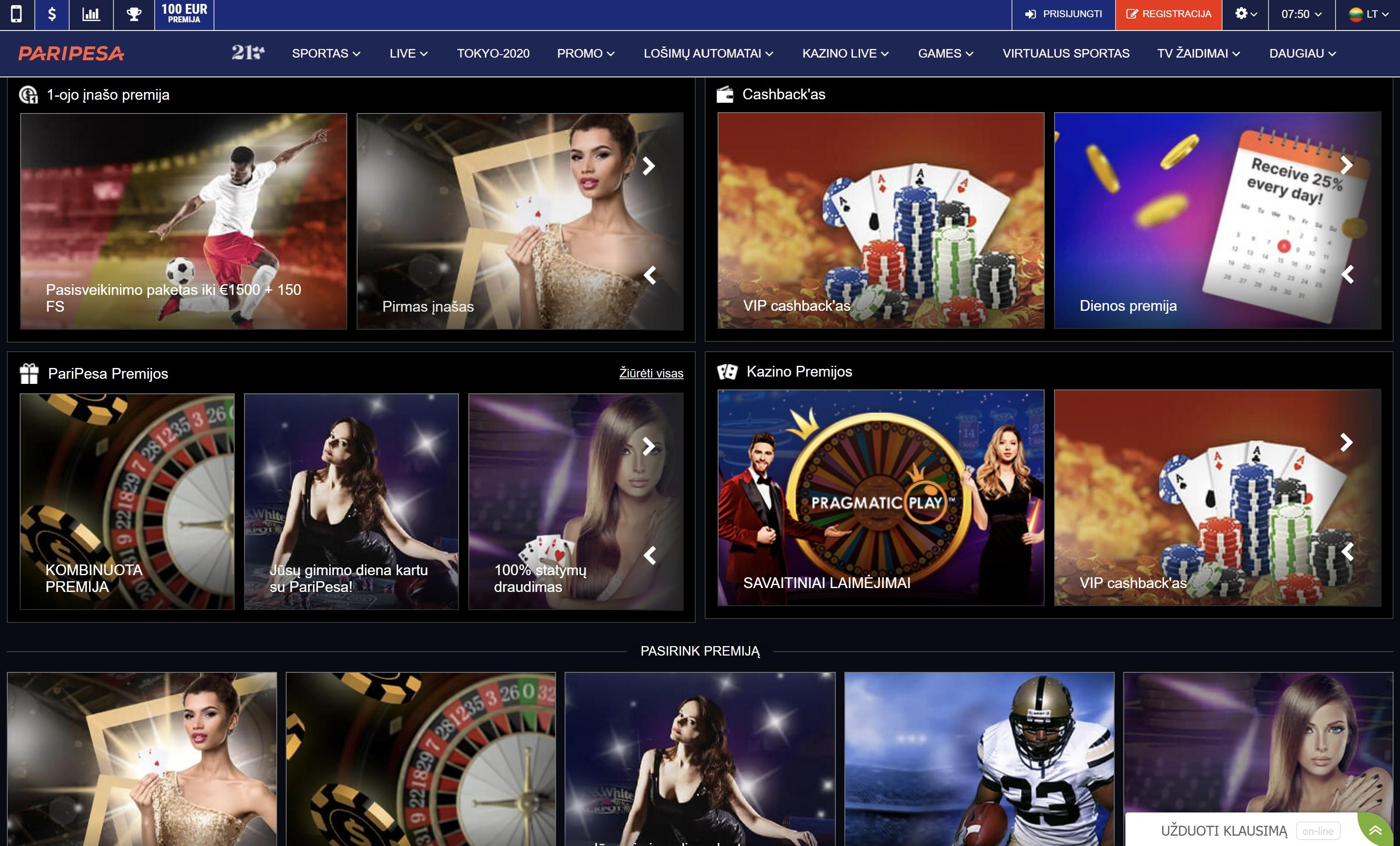 paripesa casino bonus promo code premija - pasveikinimo paketas iki 1500€