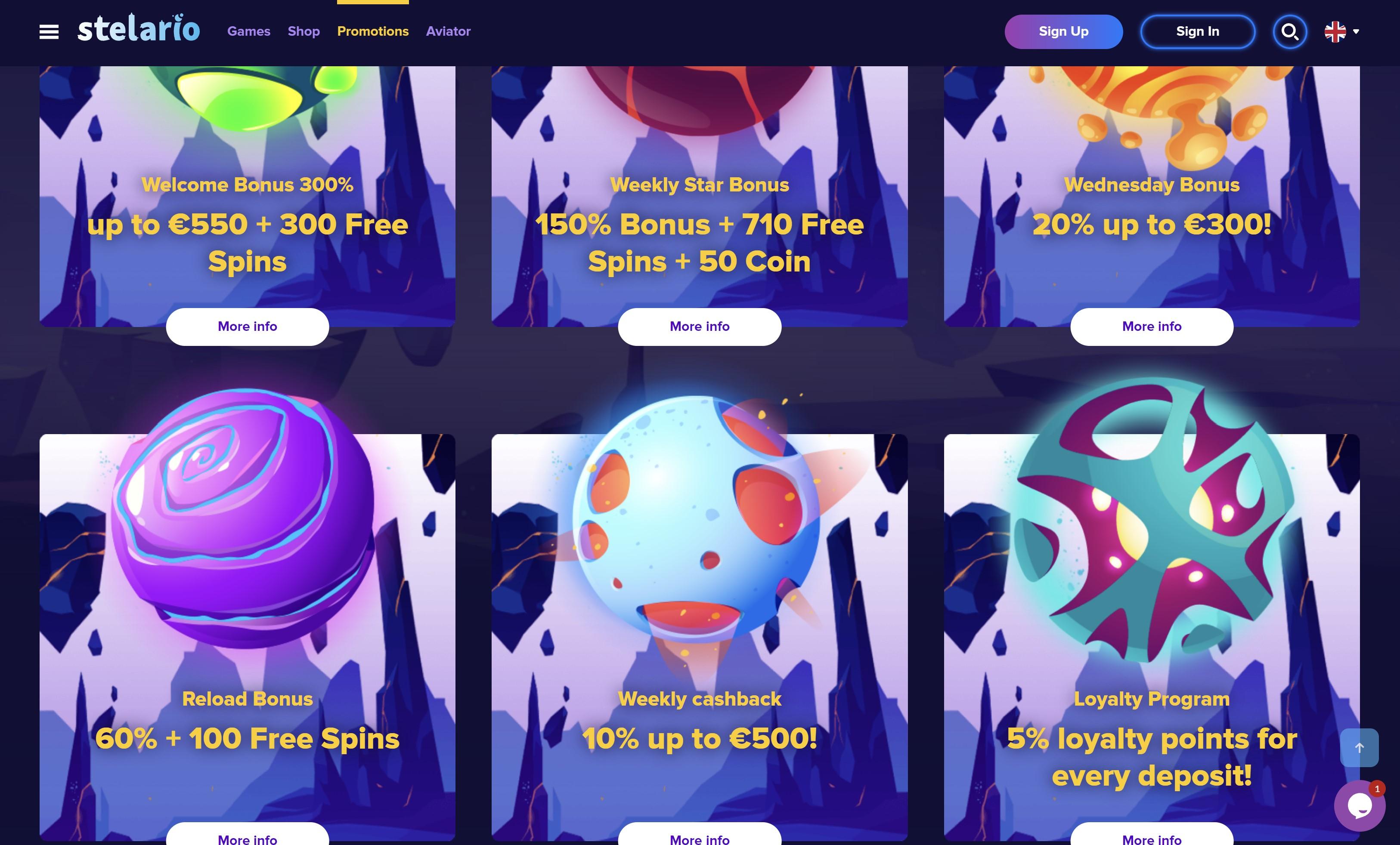 stelario casino no deposit bonus free spins premijos ir pasiūlymai
